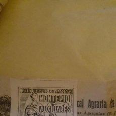 Sellos: SELLO MONTEPIO AUXILIARES CONTRIBUCIÓN 25 CTS.. Lote 206492250