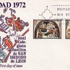 Sellos: RELIGION NAVIDAD 1972 (EDIFIL 2115/16) EN SOBRE PRIMER DIA DE ALFIL MATASELLOS MADRID. MPM.. Lote 206821490
