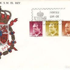 Sellos: 3 SOBRES: 1986 MADRID. SERIE BASICA DE S.M. EL REY. Lote 206822090