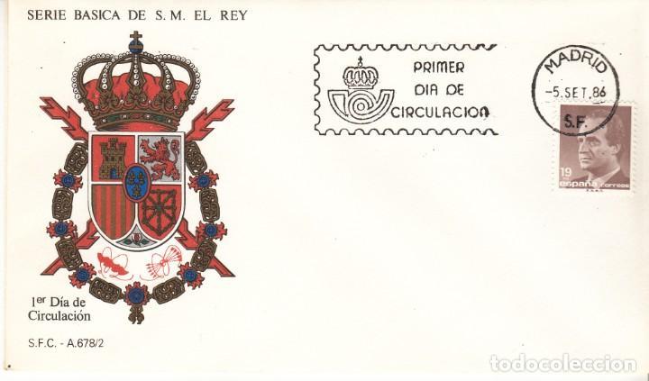 Sellos: 3 SOBRES: 1986 MADRID. SERIE BASICA DE S.M. EL REY - Foto 2 - 206822090