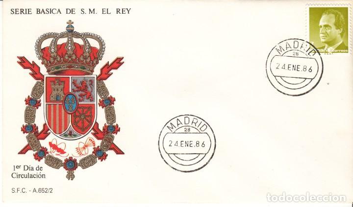 Sellos: 3 SOBRES: 1986 MADRID. SERIE BASICA DE S.M. EL REY - Foto 3 - 206822090
