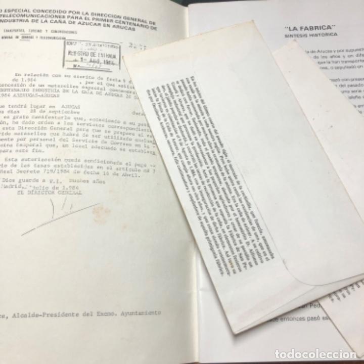 Sellos: 1984 2 sobres con matasellos Industria caña de azúcar Destilerías Arehucas de Gran Canaria y libro - Foto 4 - 206822366