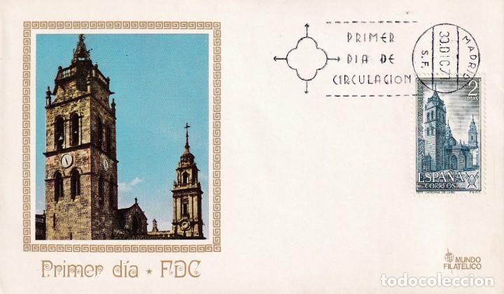 CATEDRAL DE LUGO AÑO SANTO COMPOSTELANO 1971 (EDIFIL 2065) EN SPD DE MUNDO FILATELICO. RARO ASI. (Sellos - Historia Postal - Sello Español - Sobres Primer Día y Matasellos Especiales)