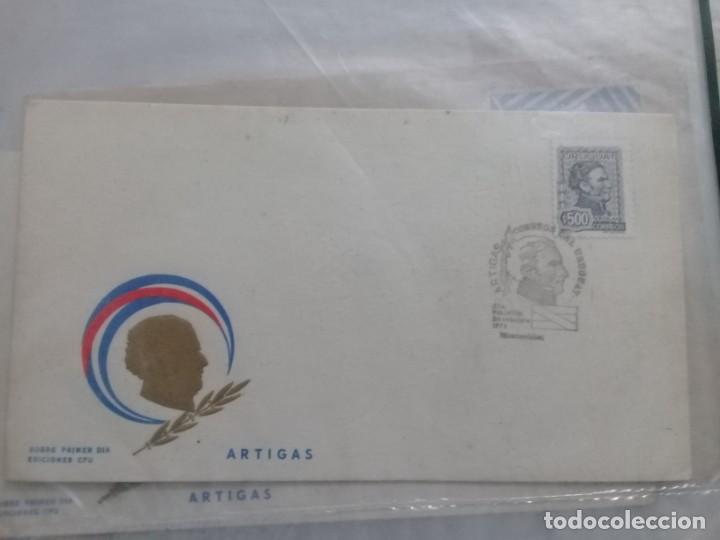 URUGUAY FILATELIA SOBRE PRIMER DIA EMISION 24 OCTUBRE 1973 ARTIGAS (Sellos - Historia Postal - Sello Español - Sobres Primer Día y Matasellos Especiales)
