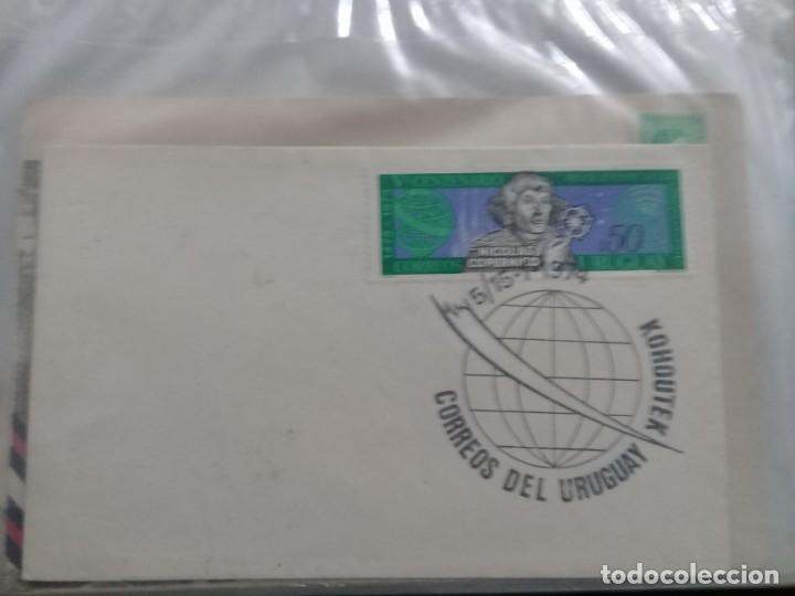 URUGUAY SOBRE PRIMER DIA EMISION 5 ENERO 1974 COPERNICO (Sellos - Historia Postal - Sello Español - Sobres Primer Día y Matasellos Especiales)