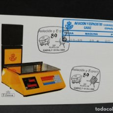 Sellos: TARJETA. EXPOSICION FILATELICA. CADIZ. 1989. AVIACION Y ESPACIO.. Lote 206938410