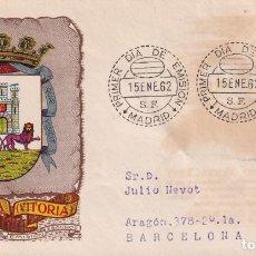 Sellos: ESCUDO DE ALAVA 1962 MATASELLOS MADRID (EDIFIL 1406) EN SPD CIRCULADO DEL SERVICIO FILATELICO. MPM.. Lote 207033132