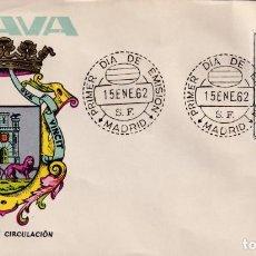 Sellos: ESCUDO DE ALAVA 1962 MATASELLOS MADRID (EDIFIL 1406) EN SOBRE PRIMER DIA DE MAURELO. RARO ASI. MPM.. Lote 207033275