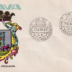 Sellos: ESCUDO DE ALAVA 1962 MATASELLOS MADRID (EDIFIL 1406) EN SOBRE PRIMER DIA EDICIONES GOMIS. RARO. MPM.. Lote 207033360
