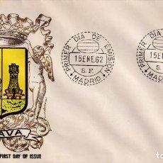 Sellos: ESCUDO DE ALAVA 1962 MATASELLOS MADRID (EDIFIL 1406) EN SOBRE PRIMER DIA SIN CIRCULAR DE ALFIL. MPM.. Lote 207033972