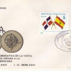 Sellos: SOBRE: 1976 REPUBLICA DOMINICANA. VISITA DE LOS REYES DE ESPAÑA. Lote 207055542