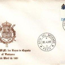 Sellos: SOBRE: 1981 CITTA DEL VATICANO ( ITALIA ). VISITA DE SS.MM. LOS REYES DE ESPAÑA. Lote 207118328