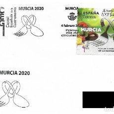 Sellos: ESPAÑA. MATASELLOS ESPECIAL DE PRESENTACION. MURCIA, CAPITAL ESPAÑOLA DE LA GASTRONOMÍA. 2020. Lote 207235225