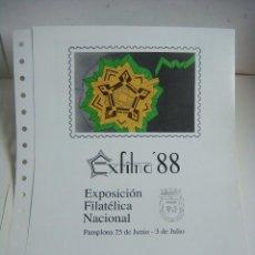 Sellos: DOCUMENTO FILATELICO MATASELLO 1ºDIA EXFILNA 88 25-JUNIO-1988. Lote 207238712