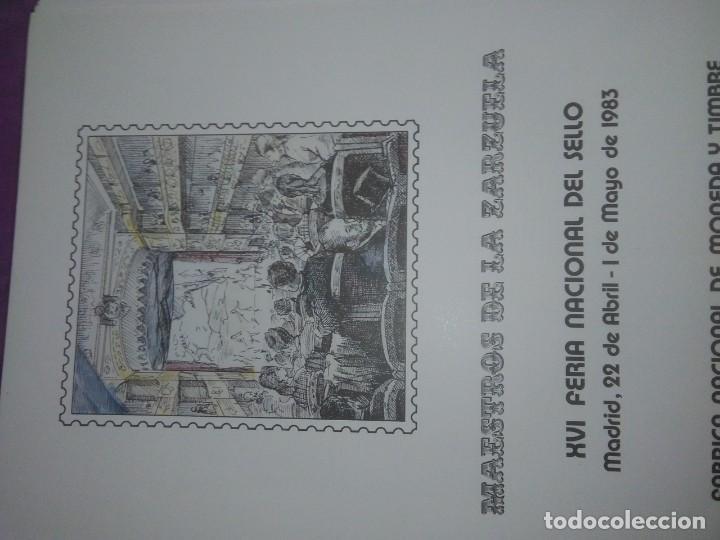 Sellos: DOCUMENTO FILATELICO: MAESTROS DE LA ZARZUELA XVI FERIA NACIONAL DEL SELLO 1983 - Foto 2 - 208375943