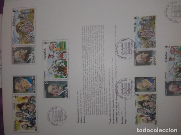 Sellos: DOCUMENTO FILATELICO: MAESTROS DE LA ZARZUELA XVI FERIA NACIONAL DEL SELLO 1983 - Foto 3 - 208375943