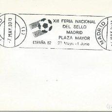 Sellos: 1980. MADRID. RODILLO/SLOGAN. FERIA NACIONAL DEL SELLO. ESPAÑA'82. FÚTBOL/FOOTBALL. DEPORTES/SPORTS.. Lote 208811741