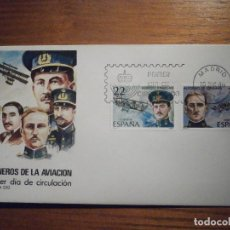 Selos: 2 SOBRES PRIMER DÍA S.F.C A.550 1980 PIONERO AVIACIÓN 10-DICIEMBRE-80 EDIFIL 2595, 2596, 2597, 2598. Lote 209971133