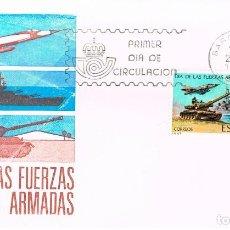 Sellos: EDIFIL 2525, DIA DE LAS FUERZAS ARMADAS, PRIMER DIA 25-5-1979 SFC, DISPONIBLE BARCELONA Y MADRID. Lote 210112557