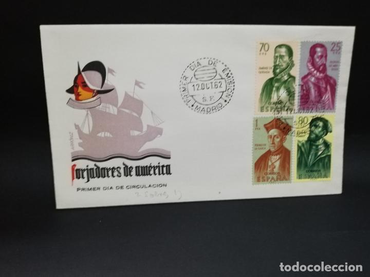 SOBRE PRIMER DIA. FORJADORES DE AMERICA. MADRID. 1962. (Sellos - Historia Postal - Sello Español - Sobres Primer Día y Matasellos Especiales)