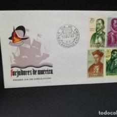 Sellos: SOBRE PRIMER DIA. FORJADORES DE AMERICA. MADRID. 1962.. Lote 210190037