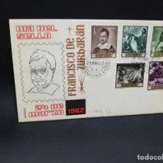 Timbres: SOBRE PRIMER DIA. FRANCISCO DE ZURBARAN. MADRID. 1962.. Lote 210190166