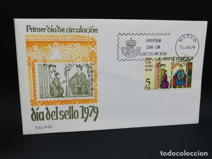 SOBRE PRIMER DIA. DIA DEL SELLO. MADRID. 1979. (Sellos - Historia Postal - Sello Español - Sobres Primer Día y Matasellos Especiales)