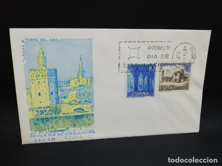 SOBRE PRIMER DIA. TURISMO TORRE DEL ORO. MADRID. 1966. (Sellos - Historia Postal - Sello Español - Sobres Primer Día y Matasellos Especiales)