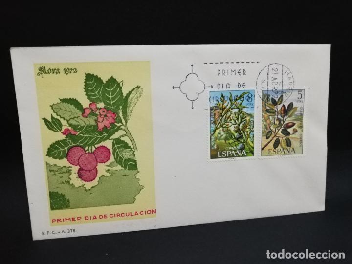 SOBRE PRIMER DIA. FLORA. MADRID. 1972. (Sellos - Historia Postal - Sello Español - Sobres Primer Día y Matasellos Especiales)