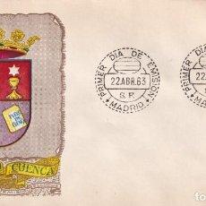 Sellos: ESCUDO DE CUENCA 1963 MATASELLOS MADRID (EDIFIL 1484) SOBRE PRIMER DIA DEL SERVICIO FILATELICO. MPM.. Lote 210563853