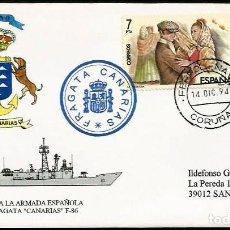 Sellos: ARMADA 1994 ENTREGA DE LA FRAGATA CANARIAS. Lote 210569916