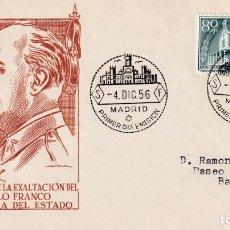 Sellos: GENERAL FRANCO XX ANIVERSARIO EXALTACION A JEFATURA ESTADO 1956 (EDIFIL 1199) EN SPD DE EG. RARO ASI. Lote 211658506