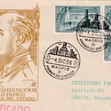Sellos: GENERAL FRANCO XX ANIVERSARIO EXALTACION A JEFATURA ESTADO 1956 (EDIFIL 1199 TRES SELLOS) SPD DP MPM. Lote 211658685