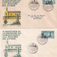 Sellos: VARIEDAD GENERAL FRANCO XX ANIVERSARIO EXALTACION A JEFATURA ESTADO 1956 (EDIFIL 1199) SPD ALFIL MPM. Lote 211659118