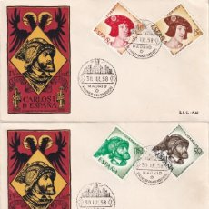 Sellos: CARLOS I DE ESPAÑA IV CENTENARIO 1958 (EDIFIL 1224/31) EN CUATRO SPD DEL SERVICIO FILATELICO. RAROS.. Lote 211663536