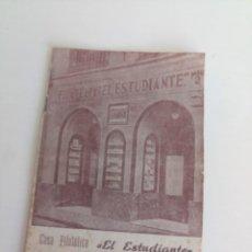 Sellos: ANTIGUO LIBRETO FILATELIA EL ESTUDIANTE SELLOS MADRID. Lote 211951045