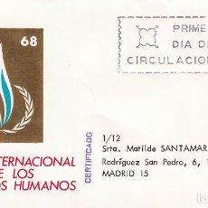 Sellos: AÑO INTERNACIONAL DE LOS DERECHOS HUMANOS 1968 (EDIFIL 1874) EN SPD CIRCULADO MUNDO FILATELICO. MPM.. Lote 213227993