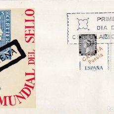 Sellos: DIA MUNDIAL DEL SELLO 1968 (EDIFIL 1869/70) EN SOBRE PRIMER DIA DEL SERVICIO FILATELICO. MPM.. Lote 213229336