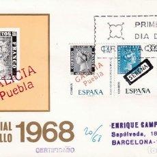 Sellos: DIA MUNDIAL DEL SELLO 1968 (EDIFIL 1869/70) SPD CIRCULADO MUNDO FILATELICO BONITO Y MUY RARO ASI MPM. Lote 213229452
