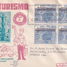 Sellos: IGLESIA SANTA MARIA BETANZOS SERIE TURISTICA 1967 (EDIFIL 1802 CUATRO SELLOS) SPD CIRCULADO MS. MPM.. Lote 213231605