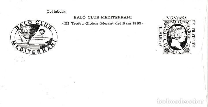 Sellos: GLOBOS MARCA ROJA EN SOBRE TRANSPORTE AEREO COMARCA DOSONA DOBLE MATASELLO VIC 1985 STA EUGENIA MPM - Foto 2 - 177728858