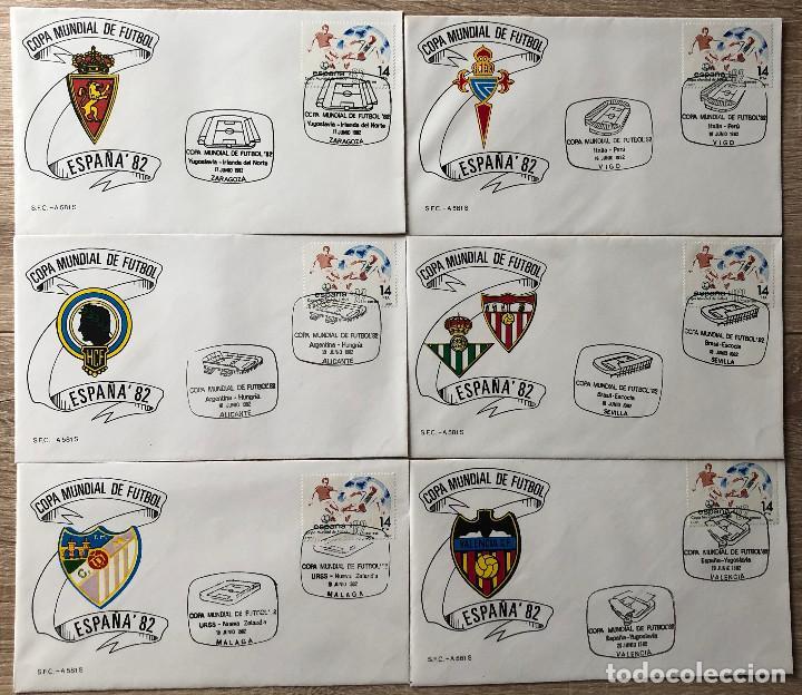 SOBRES PRIMER DIA, MUNDIAL FUTBOL ESPAÑA 82 (Sellos - Historia Postal - Sello Español - Sobres Primer Día y Matasellos Especiales)