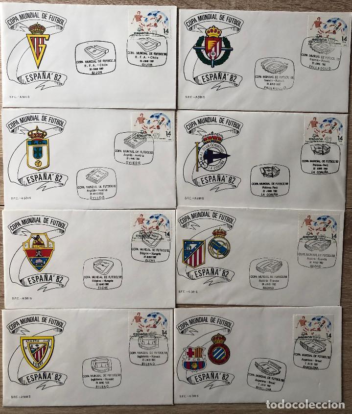 Sellos: SOBRES PRIMER DIA, MUNDIAL FUTBOL ESPAÑA 82 - Foto 2 - 213386798