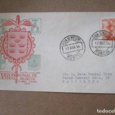 Sellos: FERIA DE MUESTRAS 1954 DE MURCIA A BARCELONA. Lote 213627051
