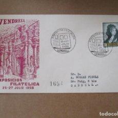 Sellos: EXPO FILATELICA 1958 DE VENDRELL A SABADELL. Lote 213650853