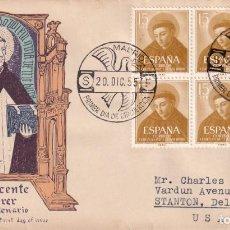 Sellos: RELIGION SAN VICENTE FERRER V CENTENARIO 1955 (EDIFIL 1183 SEIS SELLOS) SPD CIRCULADO ALFIL MUY RARO. Lote 213738478
