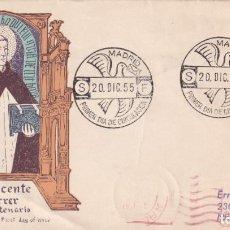 Sellos: RELIGION SAN VICENTE FERRER V CENTENARIO 1955 (EDIFIL 1183) EN SPD DE ALFIL CIRCULADO A USA RARO ASI. Lote 213738581