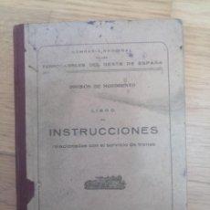 Sellos: LIBRO INSTRUCCIONES SERVICIO DE TRENES FERROCARRIL 1933. Lote 213812411