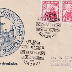 Sellos: ALMIRANTE BONIFAZ PERSONAJES 1948 (EDIFIL 1034 TRES SELLOS) EN SPD CIRCULADO DEL SERVICIO FILATELICO. Lote 214204568