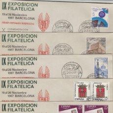 Sellos: 1967 BARCELONA IX EXPOSICION FILAT GRUPO SEAT , MATASELLOS CALENDARIO . SOBRE. Lote 214256950